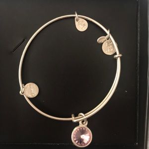 Alex and Ani Silver June Birthstone Charm Bracelet